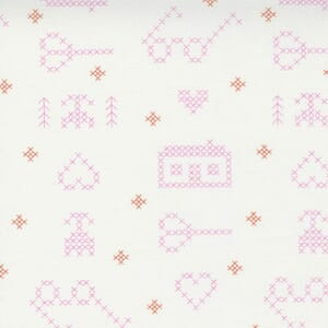 Large Image of the Moda Make Time Off Icons White Fabric 24570 11