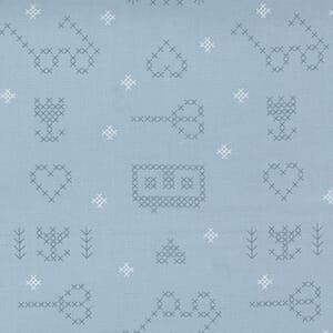 Large Image of the Moda Make Time Icons Bluebell Fabric 24570 14