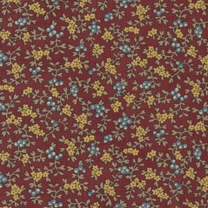Large Image of the Moda Mary Anns Gift Berry Picking Red Fabric 31631 12