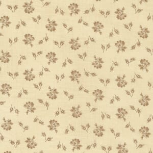 Large Image of the Moda Mary Anns Gift Biscuit Prairie Bloom Saddle Fabric 31634 11
