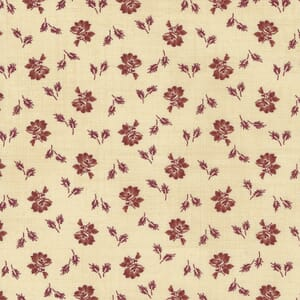 Large Image of the Moda Mary Anns Gift Biscuit Prairie Bloom Red Fabric 31634 12