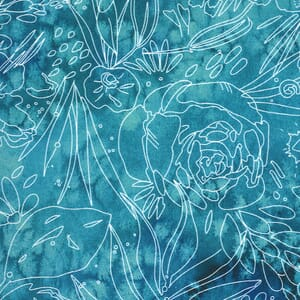 Moda Moody Bloom Her Garden Teal