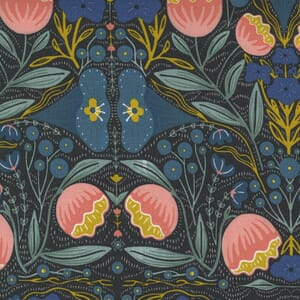 Large Image of the Moda Nocturnal Night Flowers Night Fabric 48331 12
