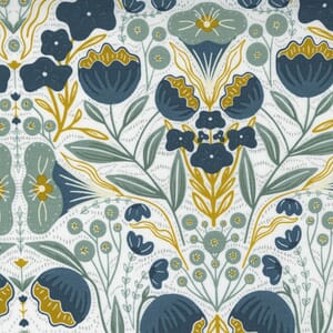 Large Image of the Moda Nocturnal Night Flowers Cloud Lake Fabric 48331 21