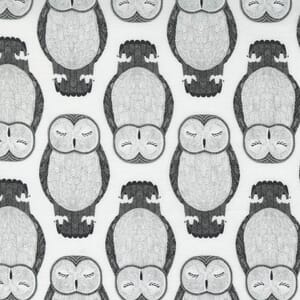 Large Image of the Moda Nocturnal Sleeping Owls Moon Fabric 48332 11