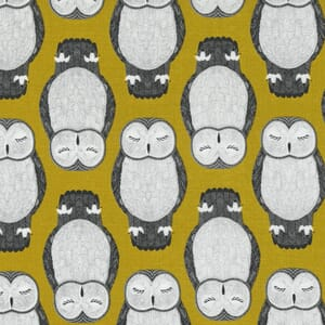 Large Image of the Moda Nocturnal Sleeping Owls Gold Fabric 48332 14