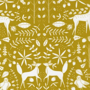 Large Image of the Moda Nocturnal Forest Otomi Gold Fabric 48334 14