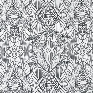 Large Image of the Moda Nocturnal Hidden Foxes Moon Fabric 48335 11