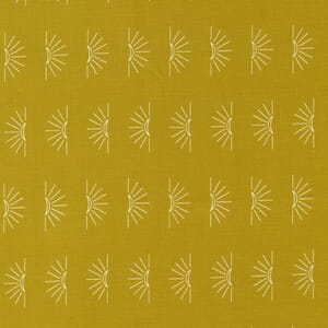 Large Image of the Moda Nocturnal Crescent Moon Gold Fabric 48336 14