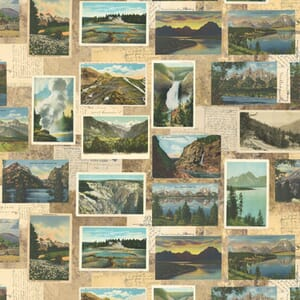 Large Image of the Moda Outdoorsy Postcards Tan Fabric 7382 12