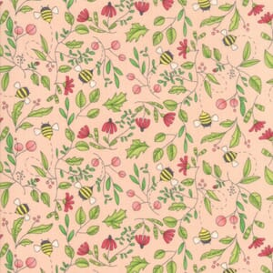Large Image of Moda Fabric Painted Meadow Simple Drawings Pink
