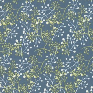 Large Image of Moda Fabric Painted Meadow Little Sprigs Turquoise