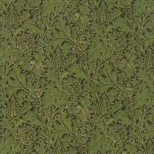 Small Image of Moda Fabric Morris Holiday 108 Inch Wide Metallic Pine