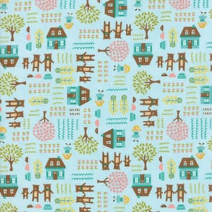 Small Image of Moda Fabric Home Sweet Home Goldie And The 3 Bears Sky