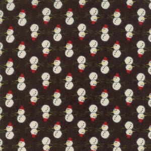 Small Image of Moda Fabric Winter Village Christmas Snowy Coal