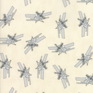 Small Image of Moda Fabric Mighty Machines Novelty Plane Creamy Misty