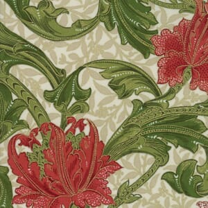 Small Image of Moda Fabric Morris Holiday 1905 Single Stem Linen