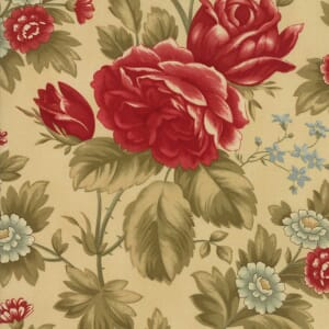 Large Picture of Moda Fabric Rosewood Rose Arbor Vanilla
