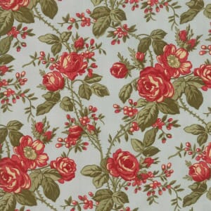 Large Picture of Moda Fabric Rosewood Bouquet Frost