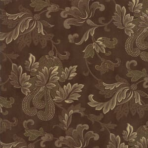Large Picture of Moda Fabric Rosewood Flourish Chocolate