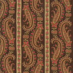 Large Picture of Moda Fabric Rosewood Paisley Stripe Chocolate