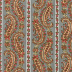 Large Picture of Moda Fabric Rosewood Paisley Stripe Dusk