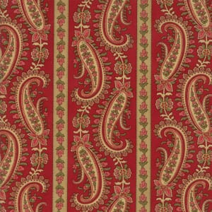 Large Picture of Moda Fabric Rosewood Paisley Stripe Cherry
