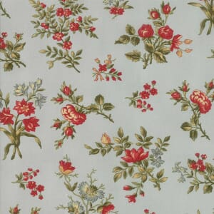 Large Picture of Moda Fabric Rosewood Garden Flower Frost