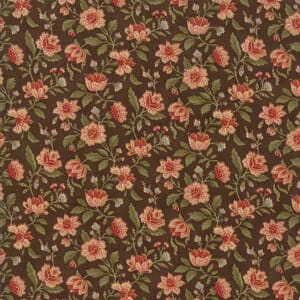 Large Picture of Moda Fabric Rosewood Packed Floral Chocolate