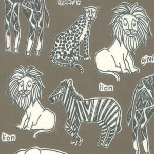 Moda Fabric Safari Life Safari Kingdom Grey