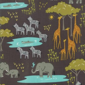 Moda Fabric Safari Life In The Native Black