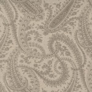 Small Image of the Moda Sister Bay Paisley Linen Natural Driftw Fabric 44272 35L