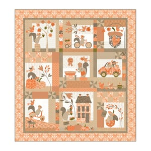 Squirrelly Girl Quilt Kit by Bunny Hill Designs For Moda