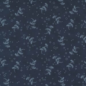Large Image of the Moda Starlight Gatherings Queen Annes Lace Navy Fabric 49167 13