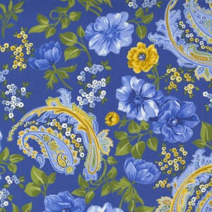 Small Image of the Moda Summer Breeze Flowers and Paisley Royal Multi Fabric 33610 16