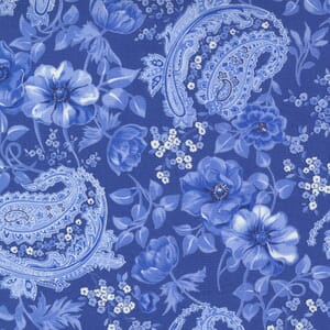 Small Image of the Moda Summer Breeze Flowers and Paisley Royal Fabric 33610 22