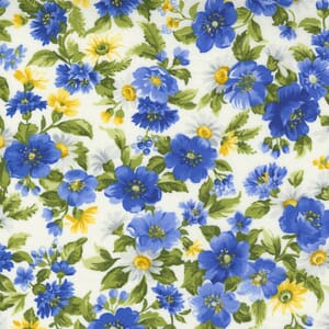 Small Image of the Moda Summer Breeze Daisy Bouquet Ivory Fabric 33611 11