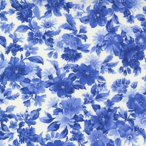 Small Image of the Moda Summer Breeze Daisy Bouquet Royal Fabric 33611 12