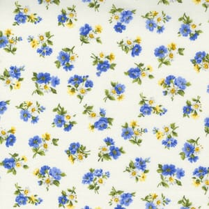 Small Image of the Moda Summer Breeze Little Bloom Ivory Multi Fabric 33613 11