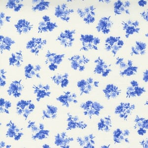 Small Image of the Moda Summer Breeze Little Bloom Ivory Royal Fabric 33613 12