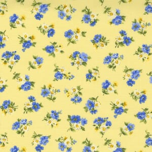 Small Image of the Moda Summer Breeze Little Bloom Yellow Fabric 33613 13