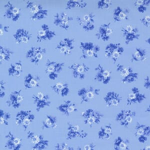 Small Image of the Moda Summer Breeze Little Bloom Sky Fabric 33613 16