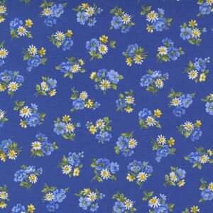 Small Image of the Moda Summer Breeze Little Bloom Royal Multi Fabric 33613 17