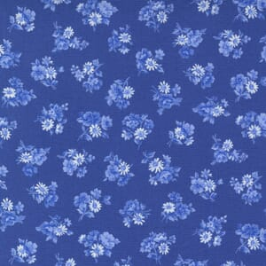 Small Image of the Moda Summer Breeze Little Bloom Royal Fabric 33613 18