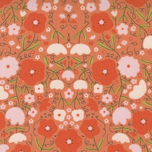 Large Image of the Moda Words To Live By Peppy Petals Clementine Fabric 48321 15