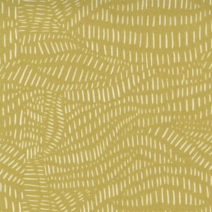 Large Image of the Moda Words To Live By Scattered Lines Mustard Fabric 48323 16
