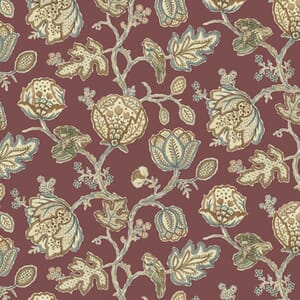 Morris & Co Orkney Theodesia Red Fabric