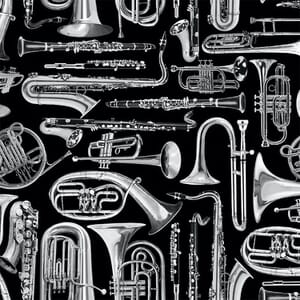 Timeless Treasures Music Brass Instruments Fabric
