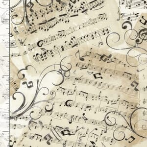 Timeless Treasures Fabric Music Notes Natural