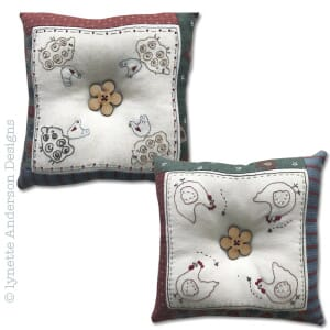 Small Image of Lynette Anderson Designs Farmyard Pin Cushions Pattern